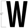 6 inch Die-Cut Magnetic Letter - W, Black