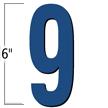 6 inch Die-Cut Magnetic Number - 9, Blue