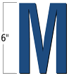 6 inch Die-Cut Magnetic Letter - M, Blue