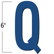 6 inch Die-Cut Magnetic Letter - Q, Blue
