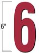 6 inch Die-Cut Magnetic Number - 6, Red