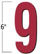 6 inch Die-Cut Magnetic Number - 9, Red