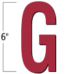 6 inch Die-Cut Magnetic Letter - G, Red