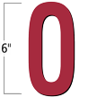 6 inch Die-Cut Magnetic Letter - O, Red