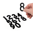Die-Cut Magnetic Numbers Set 2 Inch Tall Black