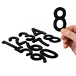 Die-Cut Magnetic Numbers Set 3 Inch Tall Black