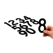 Die-Cut Magnetic Numbers Set 4 Inch Tall Black