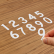 Die-Cut Reflective Numbers Set 1 Inch Tall White