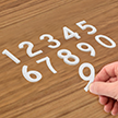 Die-Cut Reflective Numbers Set 2 Inch Tall White