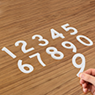 Die-Cut Reflective Numbers Set 3 Inch Tall White