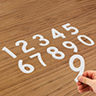 Die-Cut Reflective Numbers Set 4 Inch Tall White