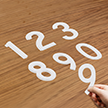 Die-Cut Reflective Numbers Set 6 Inch Tall White