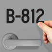 Die-Cut Vinyl Numbers For Door 2 Inch Tall Black