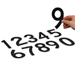 Die-Cut Vinyl Numbers Set 5 Inch Tall Black