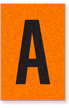 Engineer Grade Vinyl, 1 Inch Letter, Black on Orange, A