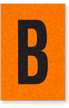 Engineer Grade Vinyl, 1 Inch Letter, Black on Orange, B