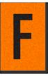 Engineer Grade Vinyl, 1 Inch Letter, Black on Orange, F