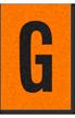 Engineer Grade Vinyl, 1 Inch Letter, Black on Orange, G