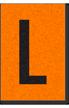 Engineer Grade Vinyl, 1 Inch Letter, Black on Orange, L
