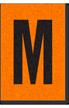 Engineer Grade Vinyl, 1 Inch Letter, Black on Orange, M