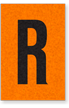 Engineer Grade Vinyl, 1 Inch Letter, Black on Orange, R