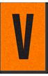 Engineer Grade Vinyl, 1 Inch Letter, Black on Orange, V