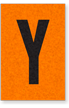 Engineer Grade Vinyl, 1 Inch Letter, Black on Orange, Y