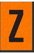 Engineer Grade Vinyl, 1 Inch Letter, Black on Orange, Z