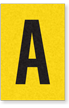 Engineer Grade Vinyl, 1 Inch Letter, Black on Yellow, A
