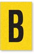 Engineer Grade Vinyl, 1 Inch Letter, Black on Yellow, B