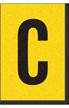 Engineer Grade Vinyl, 1 Inch Letter, Black on Yellow, C