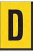 Engineer Grade Vinyl, 1 Inch Letter, Black on Yellow, D