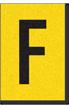Engineer Grade Vinyl, 1 Inch Letter, Black on Yellow, F
