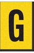 Engineer Grade Vinyl, 1 Inch Letter, Black on Yellow, G