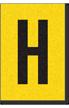 Engineer Grade Vinyl, 1 Inch Letter, Black on Yellow, H