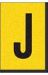 Engineer Grade Vinyl, 1 Inch Letter, Black on Yellow, J