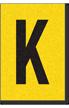 Engineer Grade Vinyl, 1 Inch Letter, Black on Yellow, K