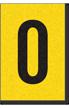 Engineer Grade Vinyl, 1 Inch Letter, Black on Yellow, O