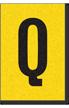 Engineer Grade Vinyl, 1 Inch Letter, Black on Yellow, Q