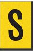 Engineer Grade Vinyl, 1 Inch Letter, Black on Yellow, S