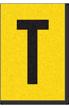 Engineer Grade Vinyl, 1 Inch Letter, Black on Yellow, T