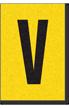 Engineer Grade Vinyl, 1 Inch Letter, Black on Yellow, V