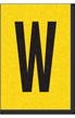 Engineer Grade Vinyl, 1 Inch Letter, Black on Yellow, W
