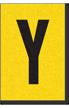 Engineer Grade Vinyl, 1 Inch Letter, Black on Yellow, Y