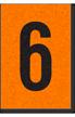 Engineer Grade Vinyl, 1 Inch Number, Black on Orange, 6