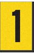 Engineer Grade Vinyl, 1 Inch Number, Black on Yellow, 1
