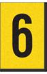 Engineer Grade Vinyl, 1 Inch Number, Black on Yellow, 6