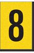 Engineer Grade Vinyl, 1 Inch Number, Black on Yellow, 8