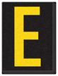 Engineer Grade Vinyl, 1.5 Inch Letter, Yellow on Black E