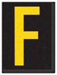 Engineer Grade Vinyl, 1.5 Inch Letter, Yellow on Black F